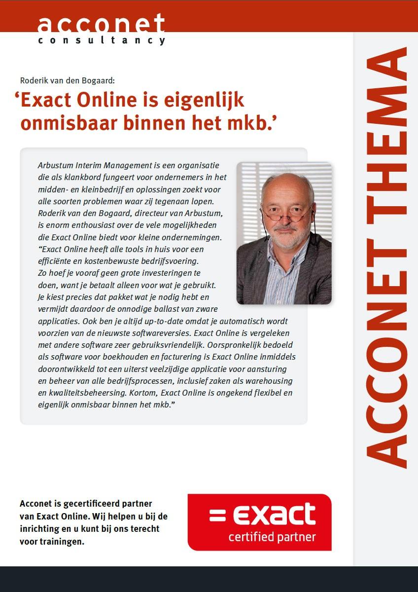 Acconet Thema Exact Online