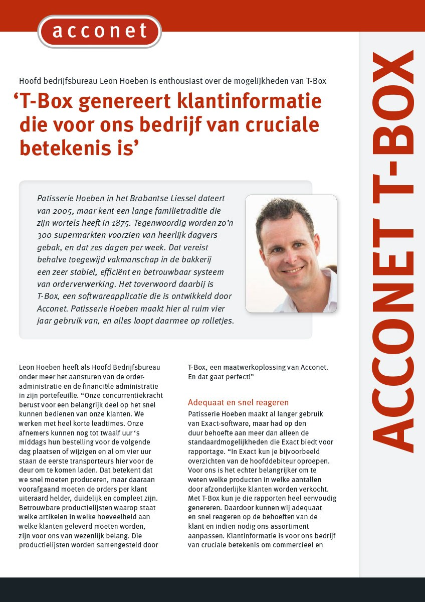 Acconet Thema - T-Box Hoeben
