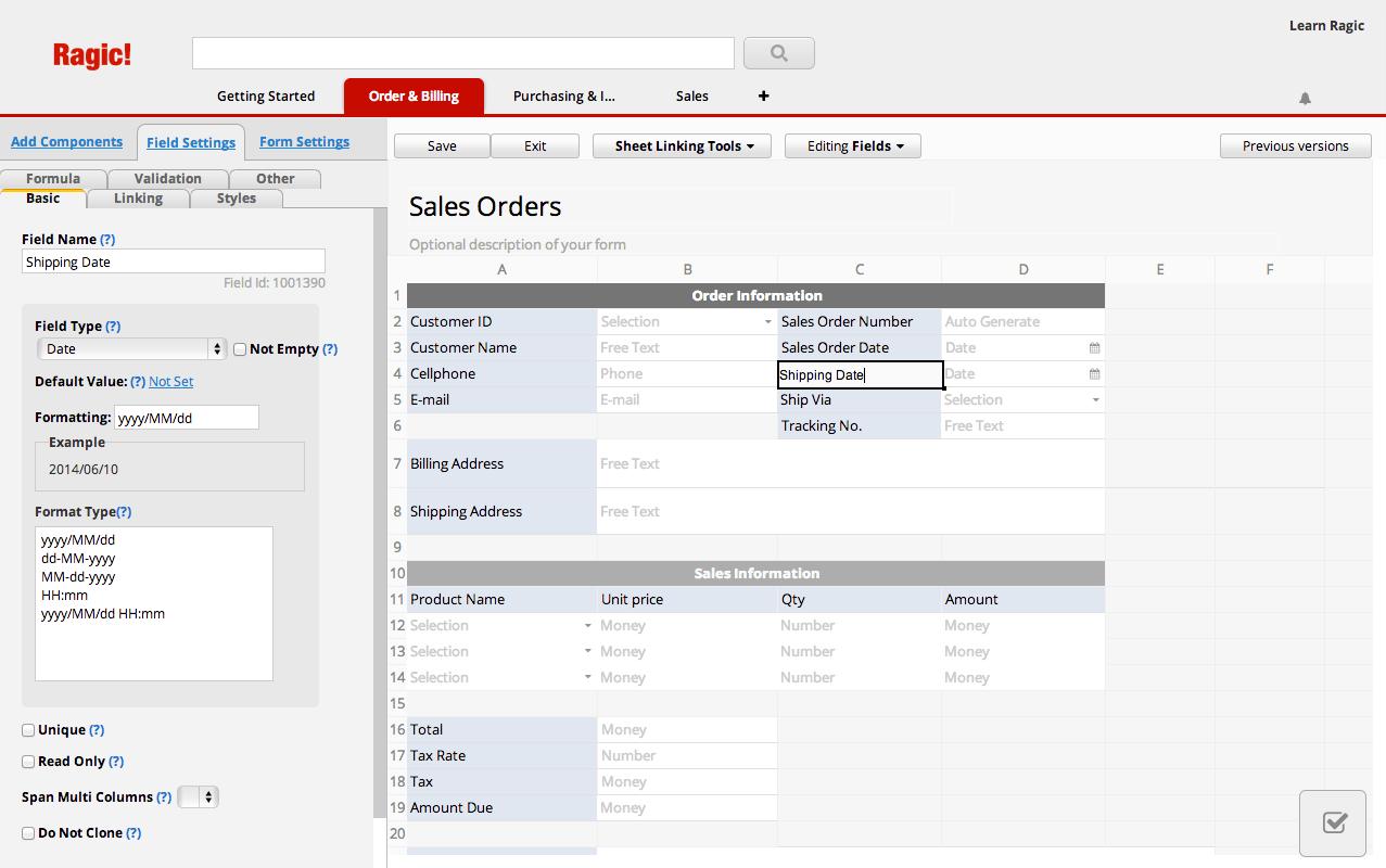 Order & Billing