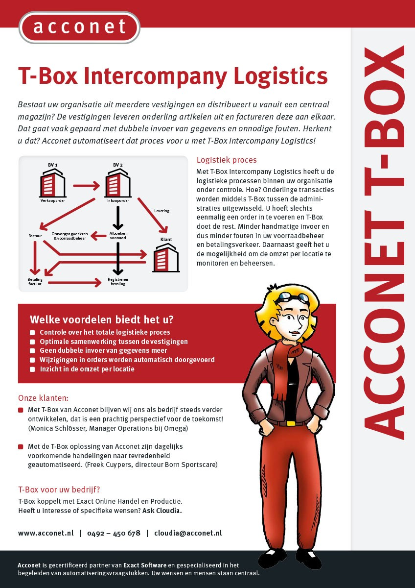 Acconet T-Box Intercompany Logistics Flyer